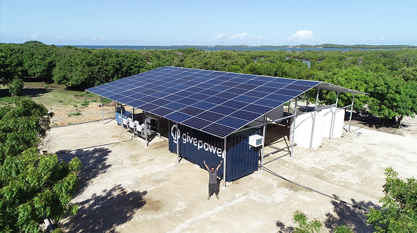 Hayes Barnard GivePower solar water farm